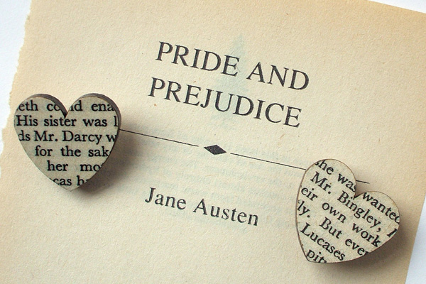 Pride and Prejudice Heart Brooches by House of Ismay