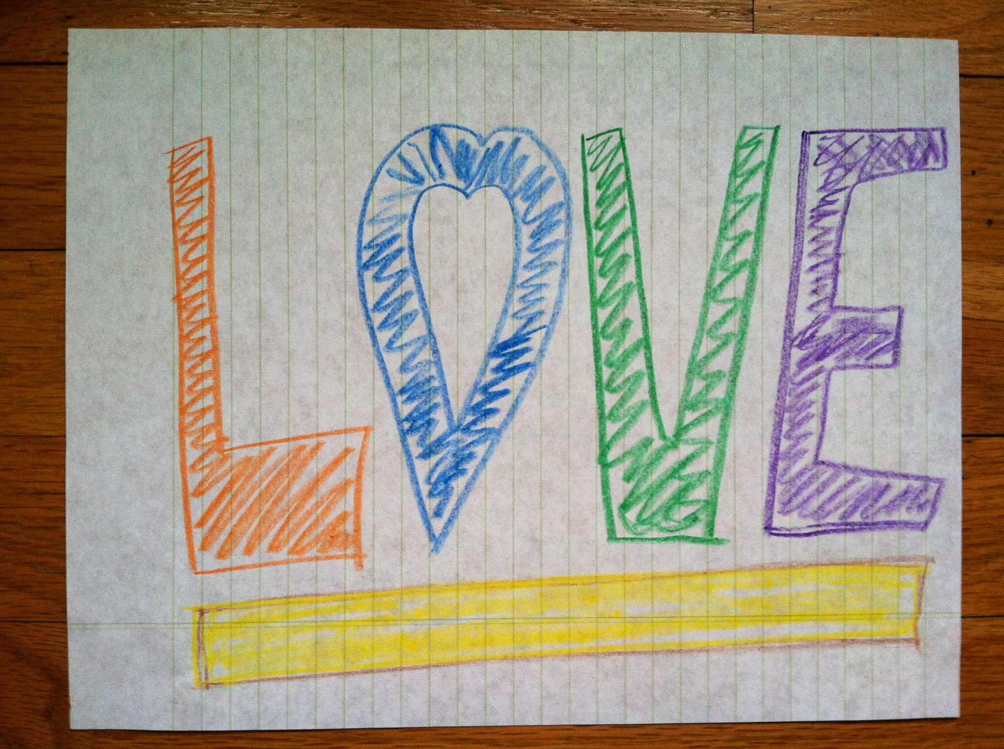 Crayon Masterpiece (I mean, really) by Heather Luxion